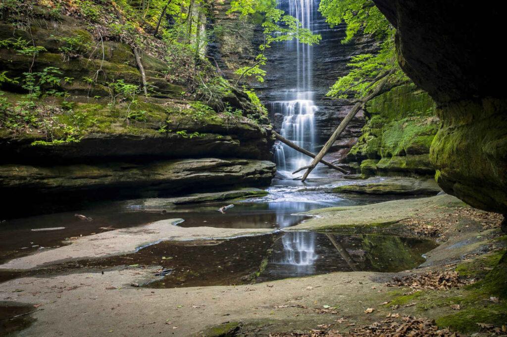 Matthiessen State Park Waterfall